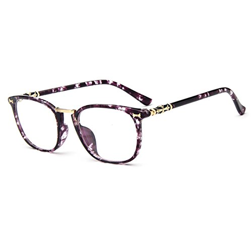 [D.King Womens Fashion Oversized Square Horn Rimmed Glasses Frames Purple] (Super Nerd Costume)