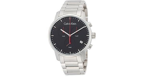 Amazon.com: Calvin Klein City Black Dial Stainless Steel Mens Watch K2G27141: Watches