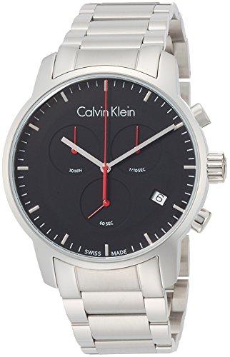 Calvin Klein K2G27141 Mens City Silver Steel Chronograph Watch