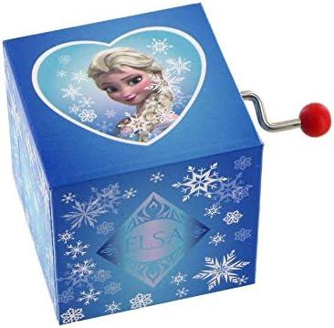 Caja de música / caja musical de manivela de madera con Elsa, el ...