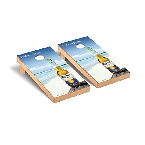Corona Regulation Cornhole Game Set Find Your Beach Version by Victory Tailgate
