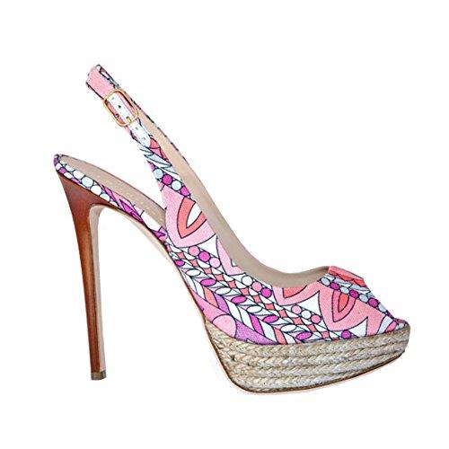 EMILIO PUCCI Women's Court Shoes Pink Size: 5.5 d0kGmm