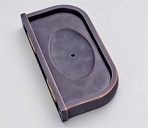 収納ラック棚 石鹸皿レトロ黒石鹸ボックス固体真鍮壁掛け石鹸皿ホルダー用世帯風呂アクセサリー 家のホテルの装飾のため