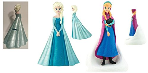 Disney Frozen Molded Figure Coin Bank x 2 / 1- Elsa and 1 - Anna