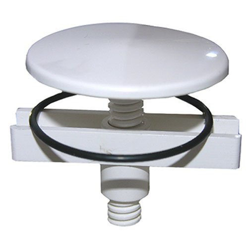 LASCO 03-1455 White Plastic Sink Hole Cover 1-3/4-Inch with Wing Nut