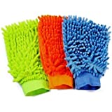 Retina 298 Vehicle Washing Cloth (Set of 3, Multicolour)