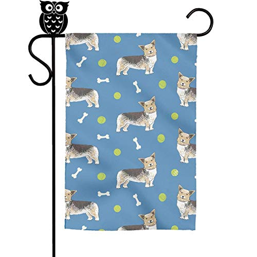 FLYYYY Corgi Dog Wallpaper Gifts Garden Flag-Single Sided
