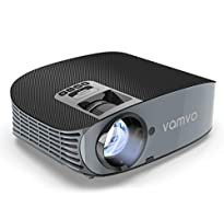 "Movie Projector, Vamvo L3600 200"" LCD Home Theater Video Projector Support 1080P HDMI VGA AV USB MicroSD for Home Entertainment, Party and Games"