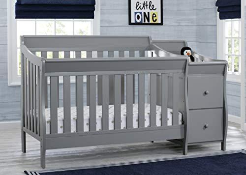 41r9J0qQq4L - Delta Children Bentley S Convertible Crib And Changer, Grey
