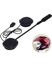 3T6B Motorhelm Headset Bluetooth 5.0 , Headset Stereo Helm Hoofdtelefoon ,Koptelefoon Draadloze Helm Hoofdtelefoon Handsfree met Mic Music Call Control