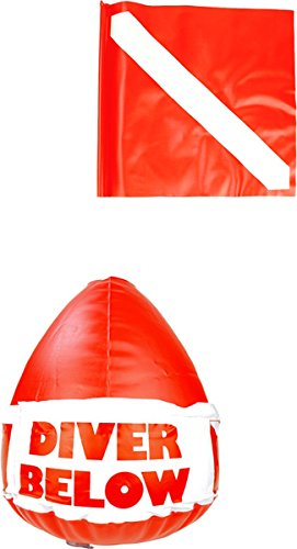 (Scuba Max DF-03 Inflatable Float with Dive Flag)