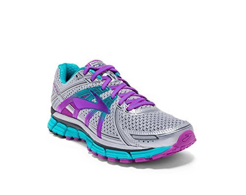Stability Running Shoes (Brooks Women's Adrenaline GTS 17 Silver/Purple Cactus Flower/Bluebird 8 EE US)