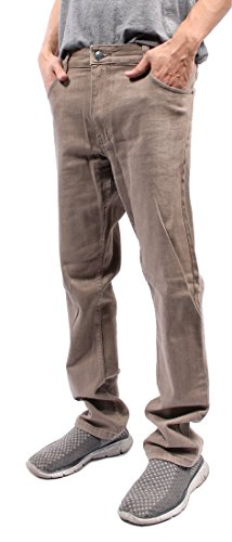 Mens Color Skinny Jeans (30/32, Taupe) (Jeans For Men Slim Colored Fit)