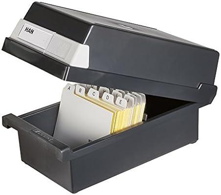 Han 967-13 - Caja para archivar fichas (capacidad para 800 fichas ...