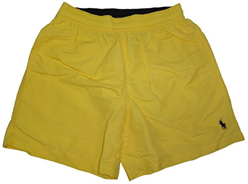 Polo Ralph Lauren Men's Pony Logo Swim Trunks Shorts (XL, Oasis Yellow)