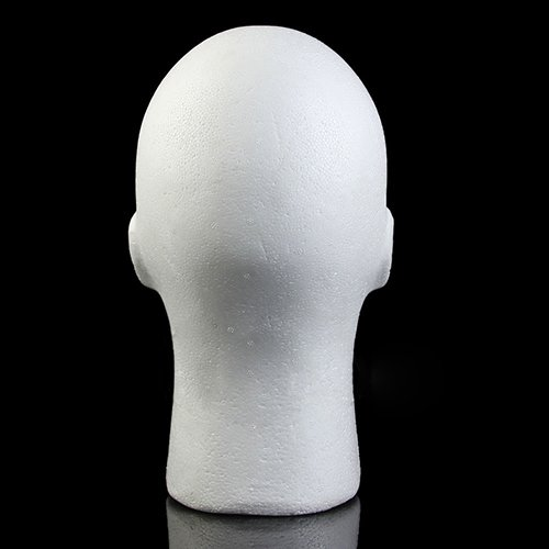 Connoworld Male Styrofoam Foam Head Model Professional Bald Manikin Mannequin Head Hat Wig Hair Jewelry Headset Glasses Display Stand Tool White by Connoworld (Image #5)