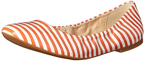 Nine West Kvinners Girlsnite Syntetisk Ballett Flat Hvit / Orange