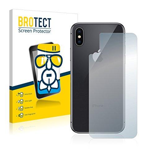 BROTECT AirGlass Pellicola Vetro Flessibile Chiaro per Apple iPhone X Posteriore (intera superficie) Proteggi Schermo, Vetro Protettivo - Extra-Resistente, Ultra-Leggero