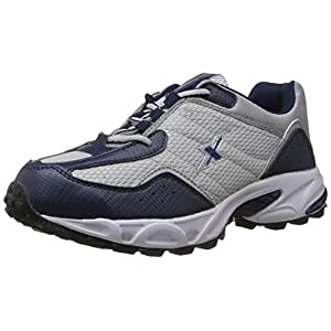 Sparx Men's Navy Blue and Silver Running Shoes – 9 UK (SM-04)