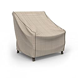 Budge English Garden Patio Chair Cover, Medium (Tan Tweed)
