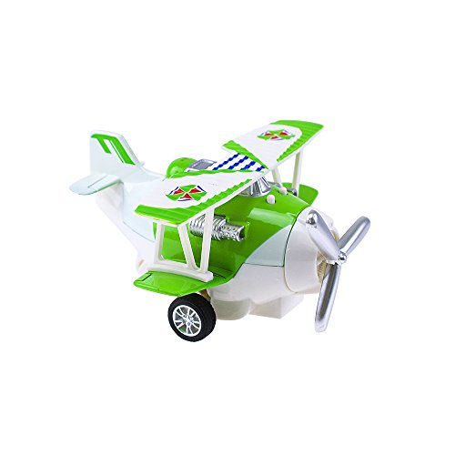 HSOMiD Pull Back Vehicle for Toddler,Mini Airplanes Pull Back and Go Car Plane Toy - Fun Travel Toys (Green)