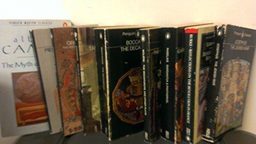 9 Penguin Classics Books- Myth of Sisyphis; Piers The Ploughman; Tales of Hoffmann; Decameron; Misanthrope; Gargantua & Pantagruel; Reflections on Revolution in France; Jewish War; Orkneyinga Saga