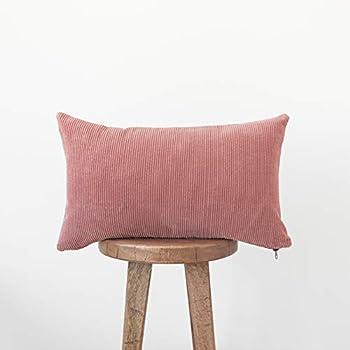 Amazon Com Woven Nook Decorative Corduroy Throw Pillow