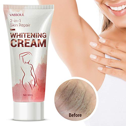 Vassoul Skin Whitening Cream - Lighten & Brighten Armpit, Bikini, Elbow, Private and Sensitive Areas (60mL) ()