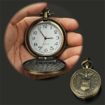 時計  懐中時計 フック付き クラシック ホークスタイルの クォーツ時計 ムーブメント ポケットウォッチ, B07FW2GXB7