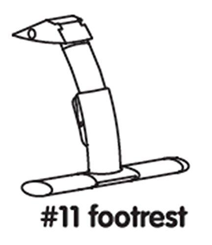 #11 footrest white Fu/ßst/ütze wei/ß Ersatzteil f/ür Hochstuhl Bloom fresco