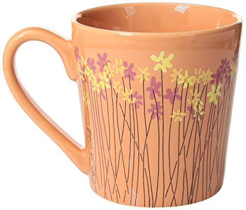 - Life is Good Coffee Mug Everday Collection,Wild Flower,Fresh Coral,One Size