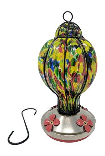 Glass Copper Hummingbird Feeder - 9