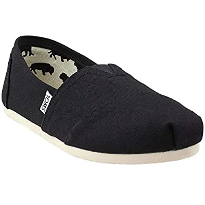 TOMS Women's 001001b07-blk Black Canvas Alpargata Flat