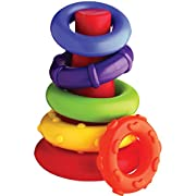 Playgro 4011455 Rock N Stack Toy (Rainbow) for baby infant toddler children