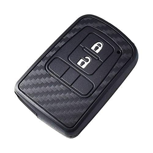 Silicone Carbon Car key Cover For Toyota Camry Sienna Noah Voxy Avalon Auris Crown Land Cruiser Smart Fob Key Case (Noah Car Covers Best Price)