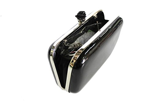 Borsetta donna l.elegante HD276 nero moda italiana