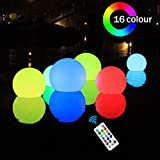9. SHYMERY Floating Pool Lights,2019 Upgrade 3.2-inch RGB Color Changing LED Pool Balls with Remote Control, IP65 Waterproof Bath Toys, Perfect for Pool Swimming,Pond Decoration,Pack of 6
