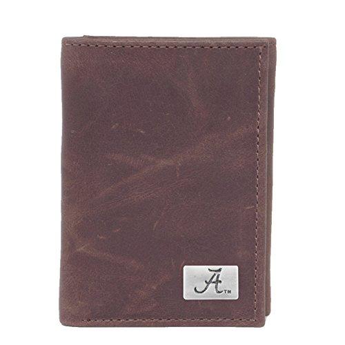 Eagles Wings NCAA Alabama Crimson Tide Men's Tri Fold Wallet, One Size, - Wallet Ncaa Brown