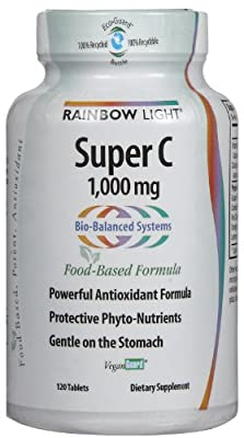 Rainbow Light Super C, 1,000 mg, Tablets, 120 tablets