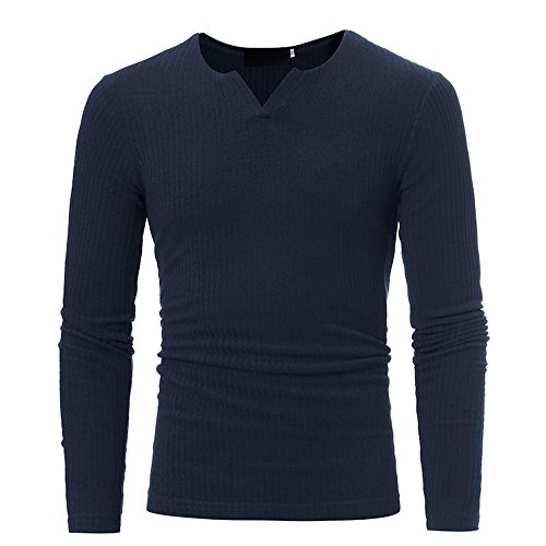 CUCUHAM Man's Autumn Winter Casual V-Neck Men's Slim