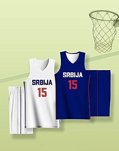 No.15, Serbia 2019 Conjunto de Ropa de Baloncesto de la Copa ...