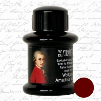 Wolfgang Amadeus Mozart/Bordeaux Red Premium Fountain Pen Bottled Ink by De Atramentis