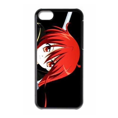 K6R54 Samurai Girl Anime cas de téléphone P1M3CV coque iPhone 5c cellulaire couvercle coque noire KS4BXA6KG