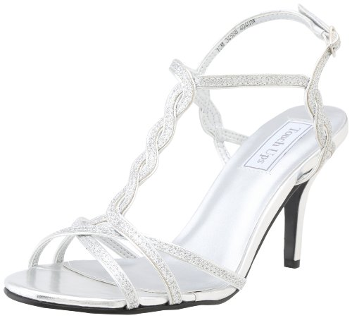 Touch Ups Women's Fran Dress Sandal,Silver Glitter,9.5 M US