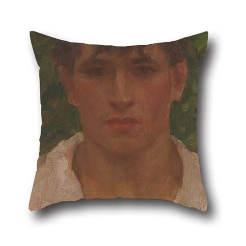 Gorgeous Eyelet (Oil Painting Henry Scott Tuke - Portrait Of A Young Man With Open Collar Cushion Covers 20 X 20 Inches / 50 By 50 Cm Best Choice For Pub,boy Friend,car,outdoor,indoor,drawing Room With 2 Sides)