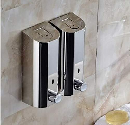 Crab Shine - 500mlX3 Hand Wall Mount Soap Dispenser Wall Liquid Soap Dispensers Bathroom Hand Soap Dispenser Liquid Stainless Steel Dispenser