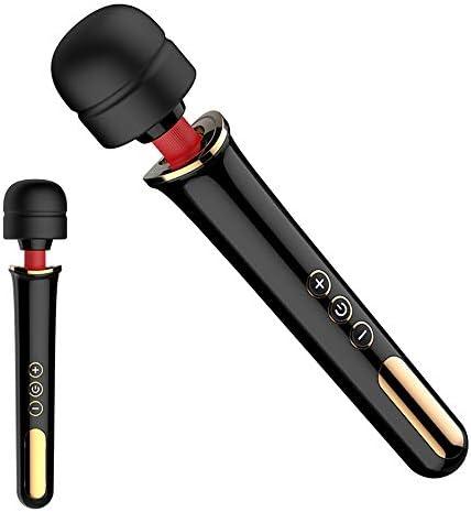G-Punkt-Vibratoren, Vibratoren mit Klitorisstimulation USB weibliche Masturbation Massagestock 10 Frequenz Spaß leistungsstarke AV-Stick 360 ° drücken Massagekopf, Entspannung laden.