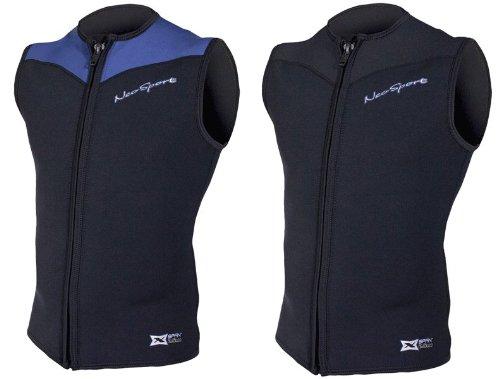(NeoSport Men's 2.5-mm XSPAN Vest (Black, Large) - Water Sports, Diving & Snorkeling)