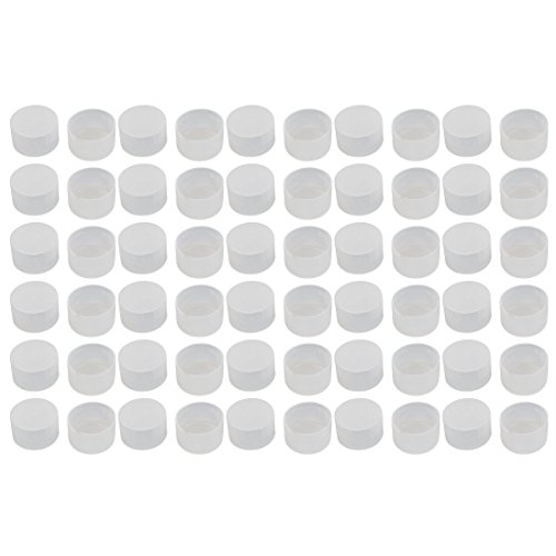 uxcell 60pcs M33 White Rubber Thread Round Cabinet Chair Leg Insert Cover Protector by uxcell