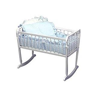 "bkb Pretty Pique Cradle Bedding, Blue, 15"" x 33"""